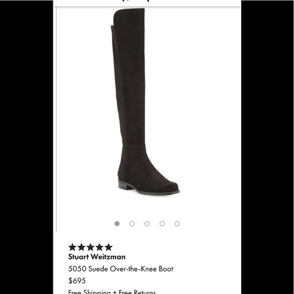 Stuart Weitzman Shoes - Stuart Weitzman 5050 all suede over knee boots